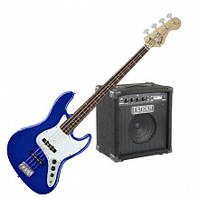 БАСОВЫЙ КОМПЛЕКТ FENDER SQUIER AFFINITY J-BASS&RUMBLE 15 AMP METALLIC BLUE