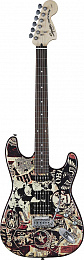 ЭЛЕКТРОГИТАРА FENDER SQUIER OBEY GRAPHIC STRATOCASTER HSS RW COLLAGE