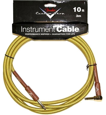 FENDER CUSTOM SHOP 10'ANGLE INSTRUMENT CABLE TWEED
