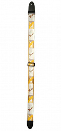РЕМЕНЬ FENDER 2' MONOGRAMMED WHITE/BROWN/YELLOW STRAP