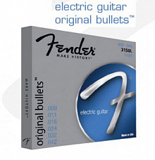 СТРУНЫ FENDER STRINGS NEW ORIGINAL BULLET 3150L PURE NKL BULLET END 9-42