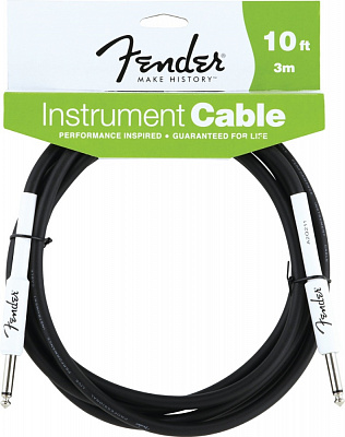 FENDER 10 INSTRUMENT CABLE BLACK