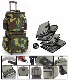 DJ ПАК ИЗ ДВУХ СУМОК UDG SLING BAG TROLLEY SET ARMY GREEN